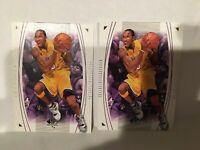 KOBE BRYANT LOS ANGELES LAKERS 2003-04 SP AUTHENTIC #35 2 CARD LOT