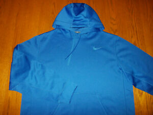 NIKE THERMA-FIT ROYAL BLUE HOODED SWEATSHIRT MENS XL EXCELLENT CONDITION