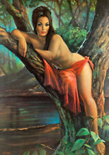Woodland Goddess J H Lynch British Paint Nude Print Poster Wall Art Picture A4 +