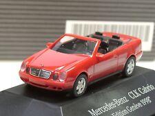 Herpa Mercedes CLK cabriolet, Salon Auto Genève 1998, rouge-Dealer PC 5655 - 1:87