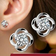 2016 New Europe and America Fashion 925 Silver Earrings AAA CZ Fine Jewellery