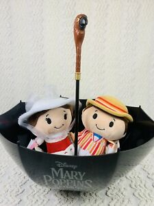 Mary Poppins & Bert Itty Bittys & Umbrella W Parrot Popcorn Bucket Disney NEW