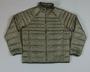 Timberland Mens Green Camo 123G Down Winter Puffer Jacket Size L Large