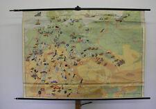 Murs Carte de l'Allemagne Industrie U. Transports Vintage Wall Map 159x114cm ~ 1959
