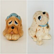 2 Pendelfin Dog Figurines Pooch and Tammy Hand Painted Burnley England Vintage