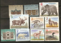 a stock page of recent used stamps from Canada, high value definitives.