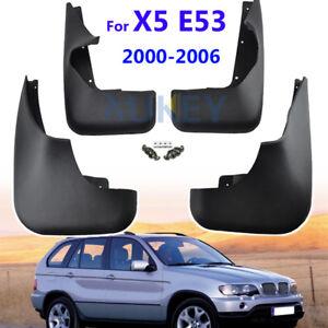 Set Molded Mud Flaps For BMW X5 E53 2000-2006 Splash Guards Mudguards Front Rear