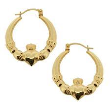 Leverback 9 Carat Yellow Gold Fine Earrings