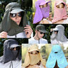 Mens Womens Outdoor Face Neck Flap Sun Protection Anti-uv Fishing Hiking Hat Cap