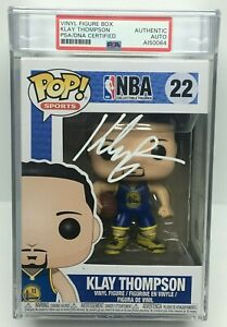 Klay Thompson Signed Golden State Warriors Funko Pop #22 PSA AI50064