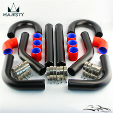 "2"" 51mm 8Pcs Aluminum Universal Intercooler Turbo Boost Piping pipe & hoses kit"