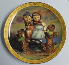 "MJ Hummel Danbury Mint Collector Plate ""Sisters are Life's Most Precious Gifts"""