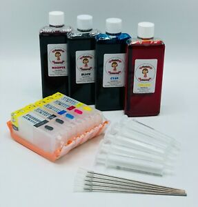 Katie's Edible Ink Cartridges Canon PGI-580 CLI-581 - Refillable  580 581 100ml