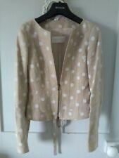 Fabulous Valentino Roma Camel Jacket White Polka Dots IT40 UK 8 BNwot 100% linen