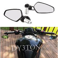 """A Pair Motorcycle 7/8"""" Handle Bar Rearview Side Mirrors For Kawasaki Ninja 650"""