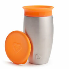 Munchkin Miracle 360 Degree Stainless Steel Sippy Cup 10 Oz296 Ml Orange