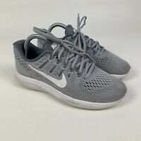 Nike Womens LunarGlide 8 843726-002 Grey Running Shoes Lace Up Low Top Size 8