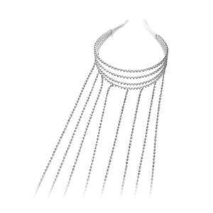 Rhinestone Headband Long Tassel Bridal Wedding Jewelry Girl Hair Accessories