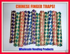 12 Chinese Bamboo Finger Traps Party Favors Arcade Fun Bird Toys
