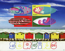Tuvalu 2015 MNH Surfing 4v M/S Sports Surf Board Beach Waves Stamps