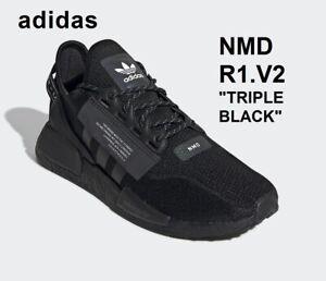 NEW Adidas Originals NMD R1 V2 triple black sneakers trainers boost NIB FW1961