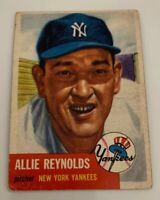 1953 Topps # 141 Allie Reynolds Baseball Card New York Yankees