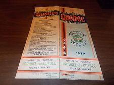 1939 Quebec Province-issued Vintage Road Map