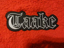 Taake  Back Patch Shape Patch Black Metal Horna Tsjuder Embroidered Silver