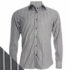 Daniel Rosso Designer Striped Men's Long Sleeve Casual Party Shirt 6 Colours NEW