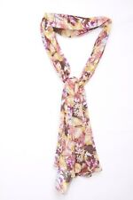 Watermelon Mustard Magenta Military Green Forest Leaves Fall Print Scarf (S105)