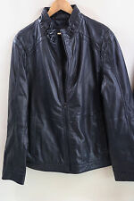 Hugo Boss Black Label 'aNKON' Goatskin Leather Jacket Size 44 R