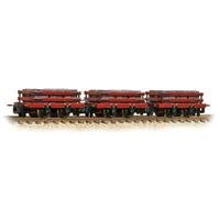 Bachmann 393-076 OO-9 Gauge 3 Pack Red Slate Wagons w Loads