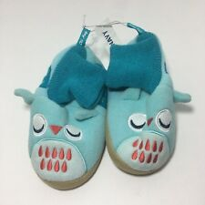 Boys OLD NAVY SLIPPERS BOOTS winter Blue Monster shoes sleepwear SIZE 9