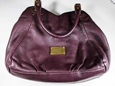 Marc by Marc Jacobs  Classic Q Fran Leather Crossbody Tote Eggplant wine damage