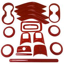 18pcs Red Interior Decoration Accessories For Jeep Wrangler JK JKU 4-door 11-16