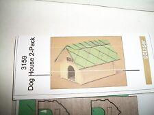 GC Laser Building Kit O Scale Kit Dog House 2 Pack  #3159    Bob The Train Guy