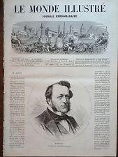 LE MONDE ILLUSTRE 1873 N 835 M.LOUIS BUFFET PRESIDENT DE L' ASSEMBLEE NATIONALE