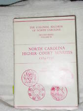 North Carolina Higher-Court Minutes 1724 V6 Genealogy Books Colonial Records