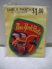 VINTAGE NEW YORK STATE TRAVEL SOUVENIR EMBROIDERED EMBLA SEW ON PATCH