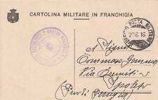 A6575) WW1 CARTOLINA MILITARE IN FRANCHIGIA, STEMMA PICCOLO A SINISTRA.