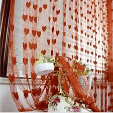 Homefab India Set of 2 Beautiful Brown Heart Door Curtains (HF571)