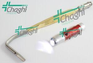 Aufricht Nasal Retractor with Fiberoptic Light 7mm Blade 16cm 2 PCs Set Chaghi T