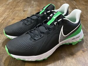 Nike React Mens Size 12.5 Infinity Pro Golf Shoes Black Green Spark CT6620-001