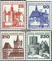 Berlin (West) 587-590 (kompl.Ausgabe) postfrisch 1979 Burgen und Schlösser