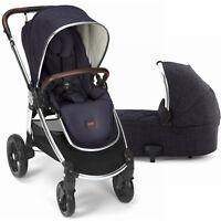 Mamas & Papas Ocarro Reversible Seat Baby Stroller w Bassinet Dark Navy NEW 2017