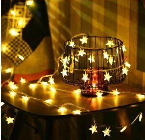 LED Star Lights Garden Fairy String Battery Micro Wedding Party Bedroom Decor UK