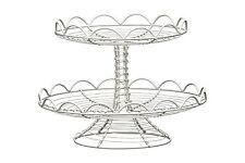 Premier Housewares 2-tier Cake Stand - Cream