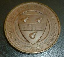 Worcestershire County Council frequenza SCOLASTICA Medaglione Bronzo 1907-08