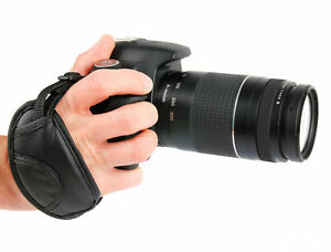 Faux Leather Adjustable Hand Strap W/ Screw Thread For Nikon D810