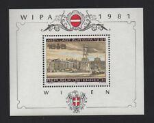 AUSTRIA 1981 WIPA INTERNATIONAL STAMP EXHIBITION (3rd issue) M/SHEET *VF MNH*